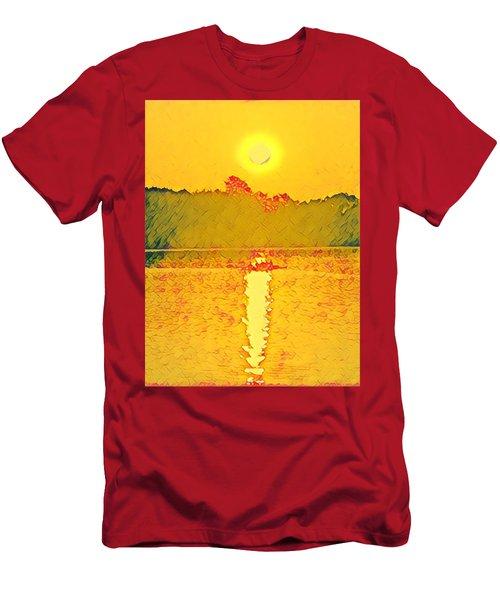 Sunrise On Town Lake Men's T-Shirt (Athletic Fit)