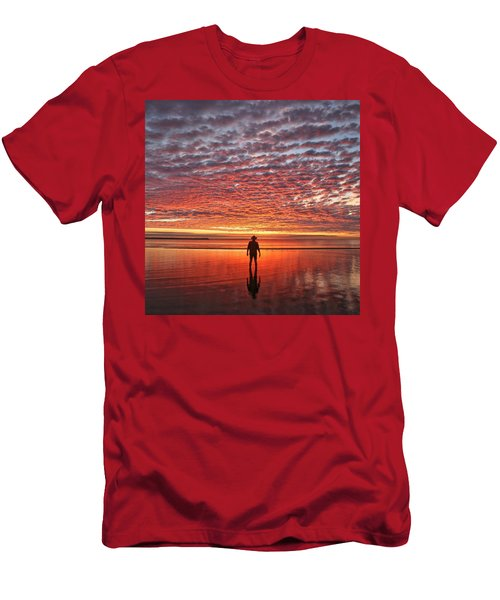 Sunrise Silhouette Men's T-Shirt (Athletic Fit)