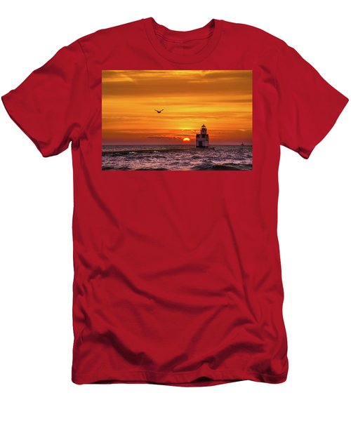 Men's T-Shirt (Athletic Fit) featuring the photograph Sunrise Solo by Bill Pevlor