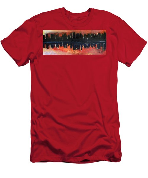 Men's T-Shirt (Slim Fit) featuring the painting Sunrise Sunset by Gary Smith