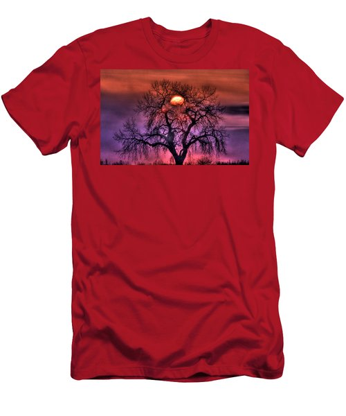 Sunrise Through The Foggy Tree Men's T-Shirt (Athletic Fit)