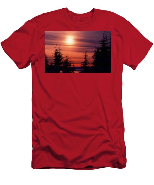 Sunset And Trees Two  Men's T-Shirt (Slim Fit) by Lyle Crump