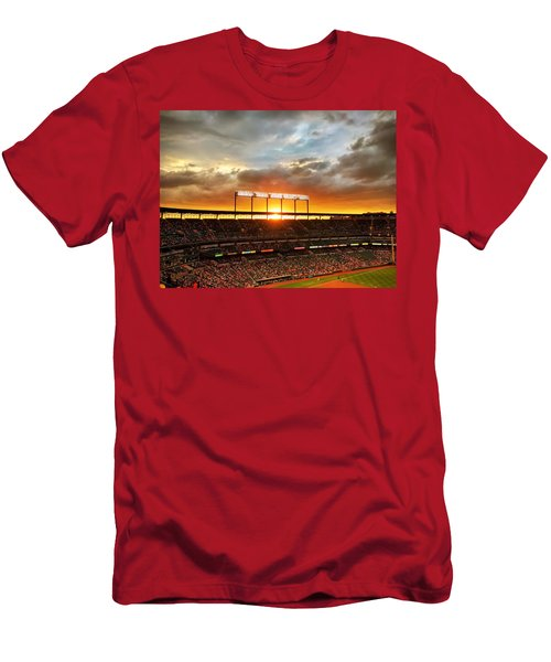 Sunset At Camden Yards Men's T-Shirt (Athletic Fit)