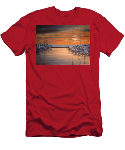 Sunset At Marina Men's T-Shirt (Athletic Fit)
