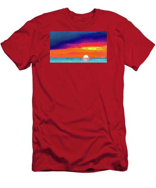 Sunset In Abstract  Men's T-Shirt (Athletic Fit)