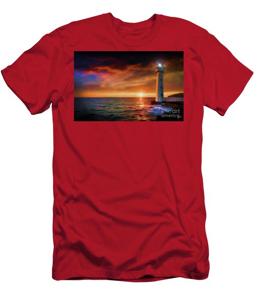 Sunset In The Bay Men's T-Shirt (Athletic Fit)