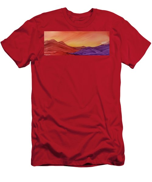 Sunset On Red And Purple Hills Men's T-Shirt (Athletic Fit)