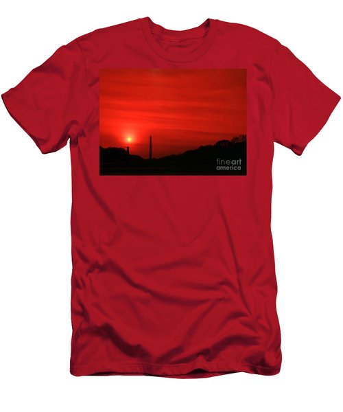 Sunset On The National Mall Washington Dc Men's T-Shirt (Athletic Fit)