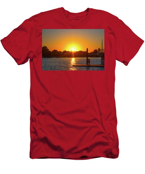 Sunset Over Hains Point Men's T-Shirt (Athletic Fit)