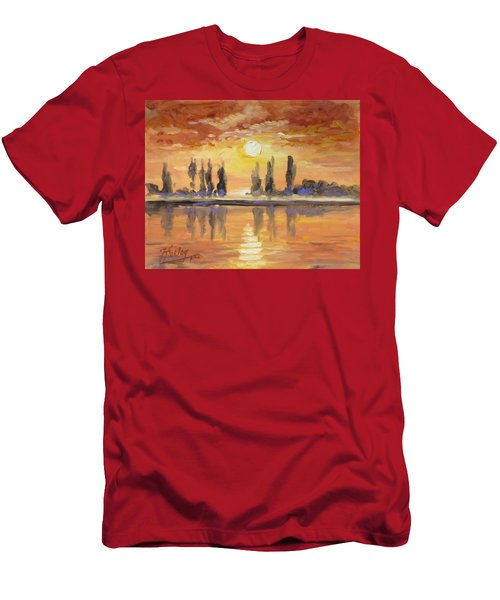 Sunset Over The Lake Men's T-Shirt (Slim Fit)