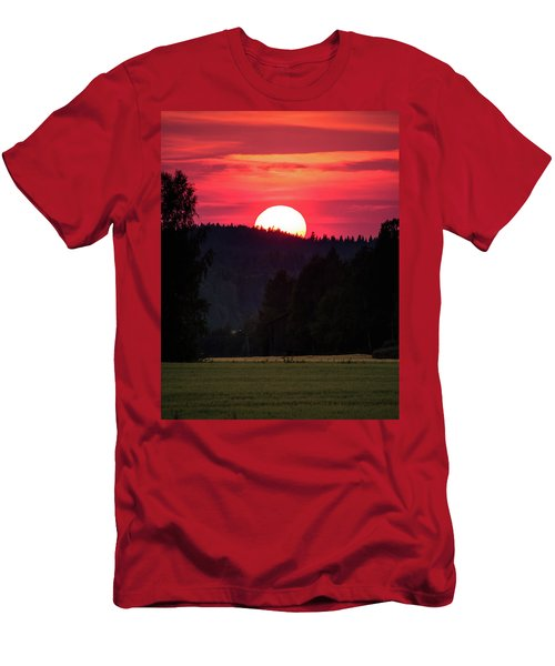 Sunset Scenery Men's T-Shirt (Slim Fit) by Teemu Tretjakov