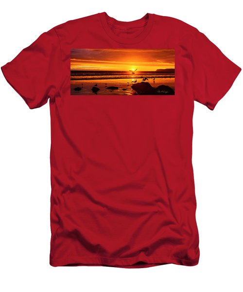 Sunset Surprise Pano Men's T-Shirt (Athletic Fit)