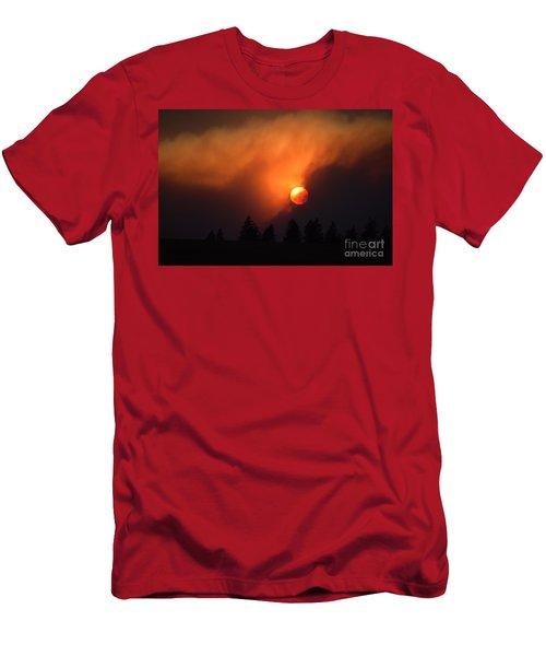 Sunset Through Smoke Men's T-Shirt (Athletic Fit)