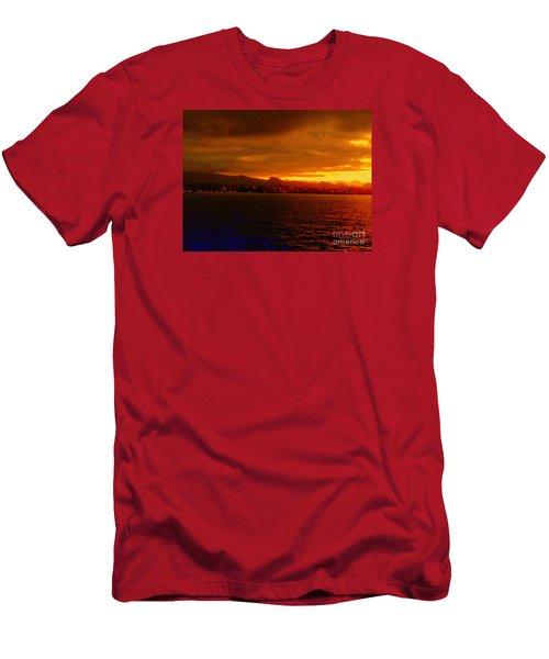 Sunset West Africa Men's T-Shirt (Slim Fit) by John Potts