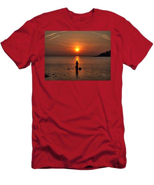 Sunset Zen Men's T-Shirt (Athletic Fit)