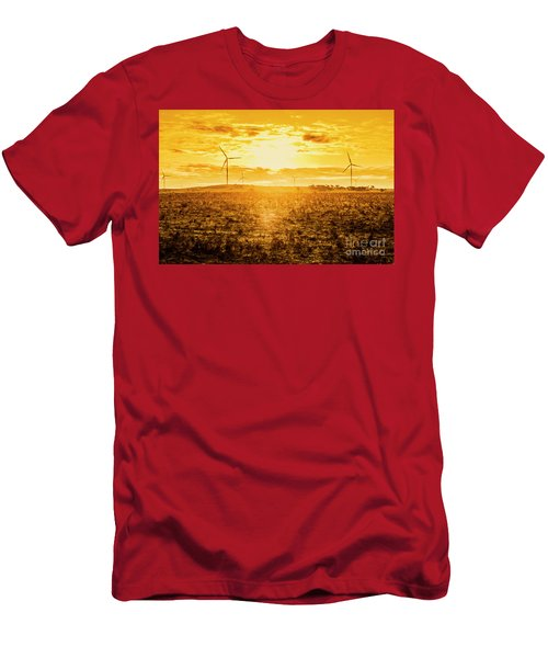 Sunsets And Golden Turbines Men's T-Shirt (Athletic Fit)