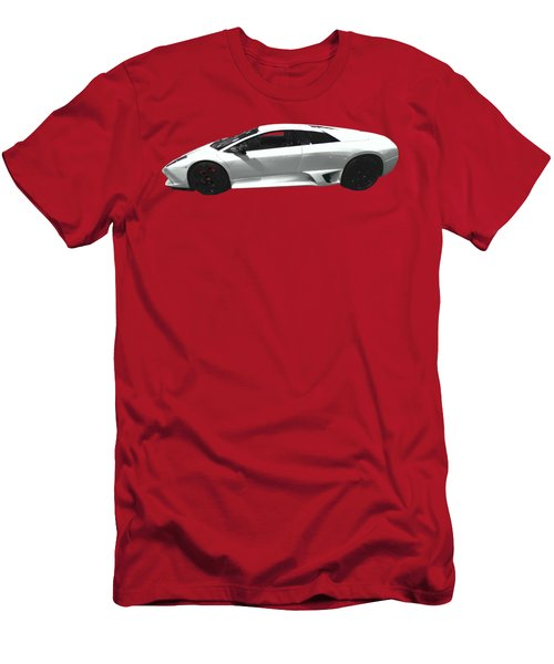Supercar In White Art Men's T-Shirt (Athletic Fit)