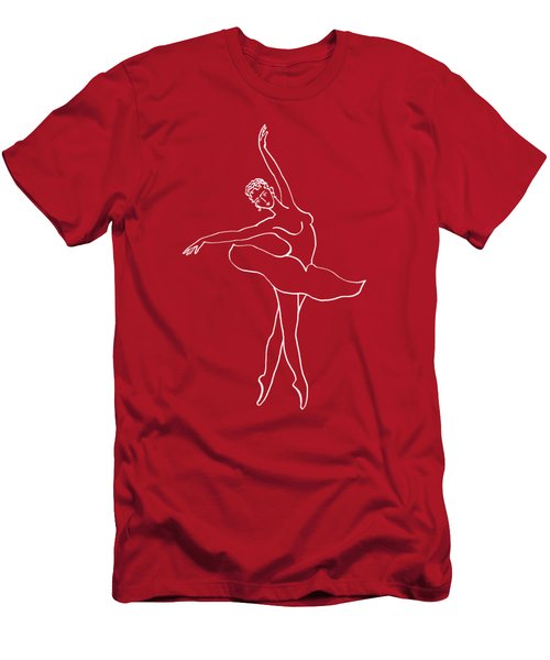Swan Lake Dance Men's T-Shirt (Slim Fit) by Irina Sztukowski