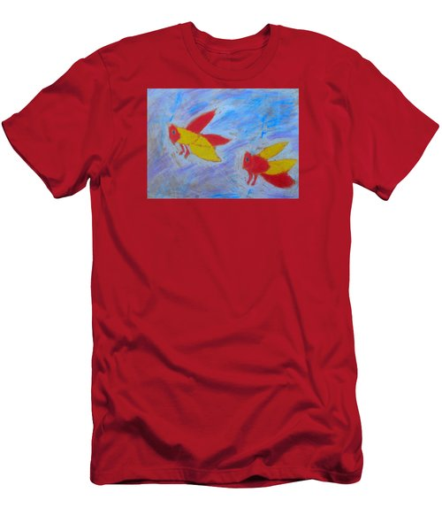 Men's T-Shirt (Slim Fit) featuring the painting Swarming Bees by Artists With Autism Inc