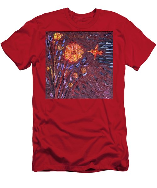 Sweet Flower Men's T-Shirt (Slim Fit) by Vadim Levin