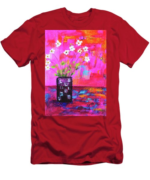 Sweet Little Flower Vase Men's T-Shirt (Athletic Fit)