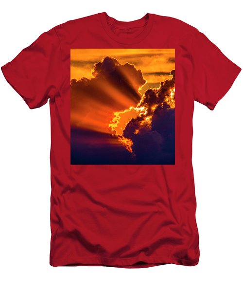 Sweet Nebraska Crepuscular Rays 010 Men's T-Shirt (Athletic Fit)