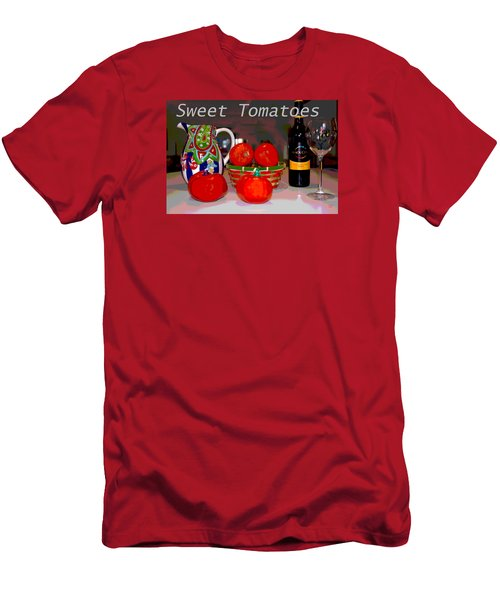 Sweet Tomatoes Men's T-Shirt (Slim Fit) by Charles Shoup
