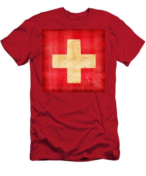 Switzerland Flag Men's T-Shirt (Athletic Fit)