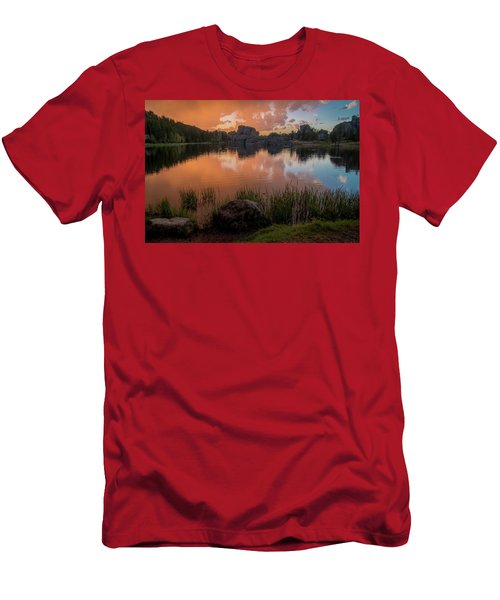 Men's T-Shirt (Athletic Fit) featuring the photograph Sylvan Lake by Gary Lengyel