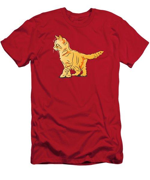 Tabby Kitten Men's T-Shirt (Athletic Fit)