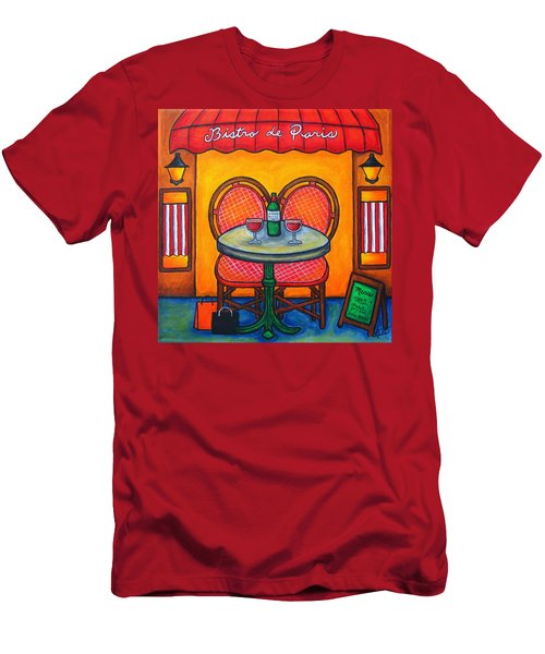 Table For Two In Paris Men's T-Shirt (Athletic Fit)