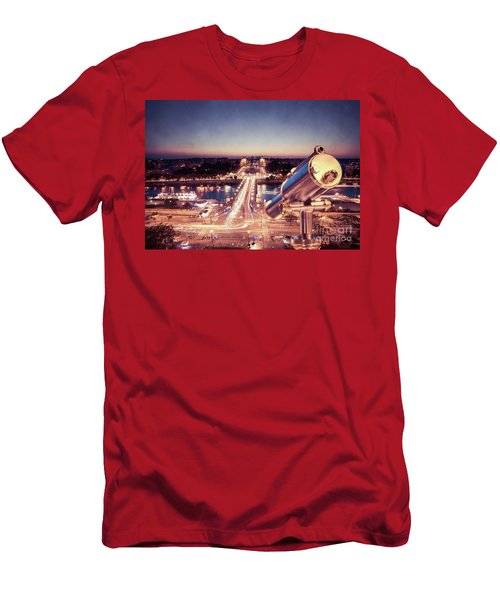 Men's T-Shirt (Slim Fit) featuring the photograph Take A Look At Paris by Hannes Cmarits