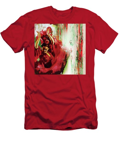 Men's T-Shirt (Slim Fit) featuring the painting Tango Dance 45g by Gull G