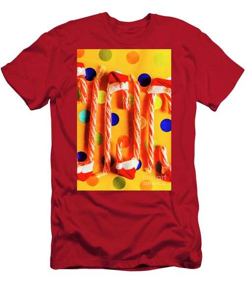 Tasty Candy Cane Sweets Men's T-Shirt (Athletic Fit)