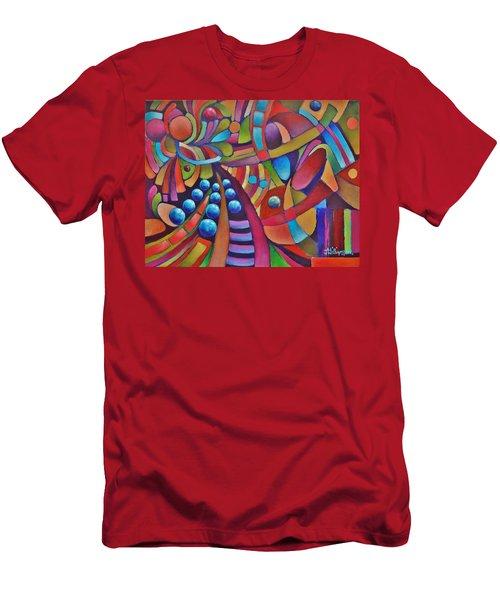 Technicolor Bloom Men's T-Shirt (Slim Fit) by Jason Williamson