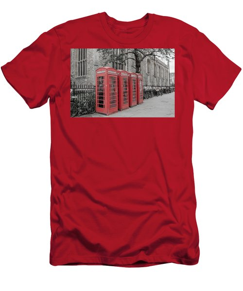 Telephone Boxes Men's T-Shirt (Athletic Fit)