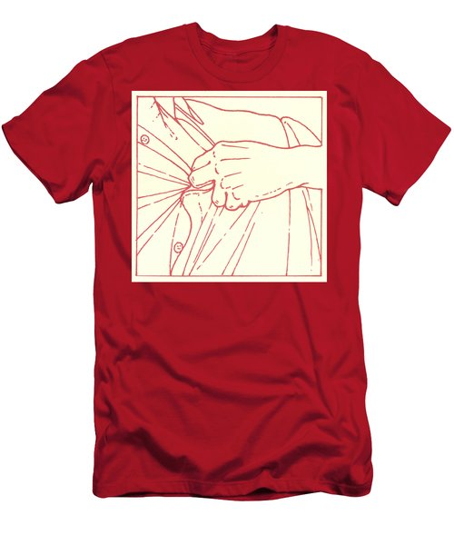 Men's T-Shirt (Athletic Fit) featuring the drawing Tenth Station- Jesus Is Stripped Of His Garments by William Hart McNichols