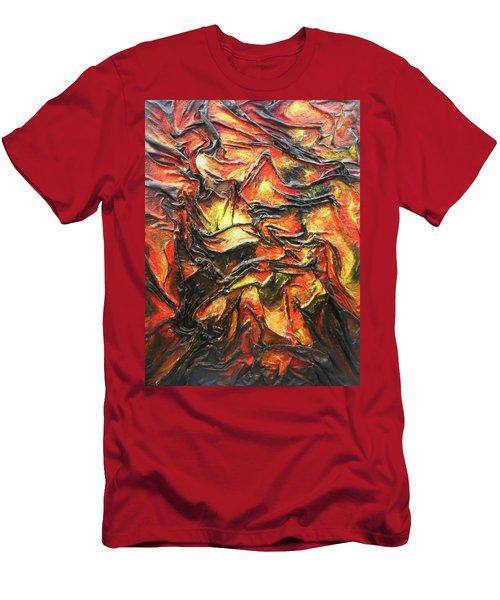 Texture Of Fire Men's T-Shirt (Slim Fit) by Angela Stout