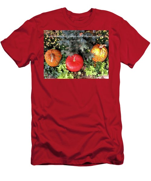 Thanksgiving Men's T-Shirt (Slim Fit) by Russell Keating
