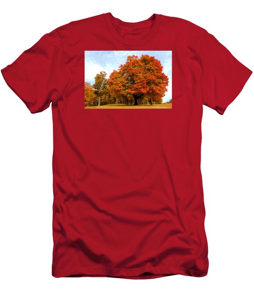 Men's T-Shirt (Slim Fit) featuring the photograph The Beauty Of Autumn  by Michael Rucker