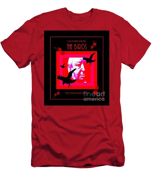 Men's T-Shirt (Athletic Fit) featuring the digital art The Birds Alfred Hitchcock by Peter Gumaer Ogden