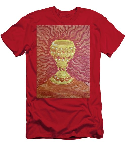 Men's T-Shirt (Athletic Fit) featuring the painting The Chalice Or Holy Grail by Michele Myers