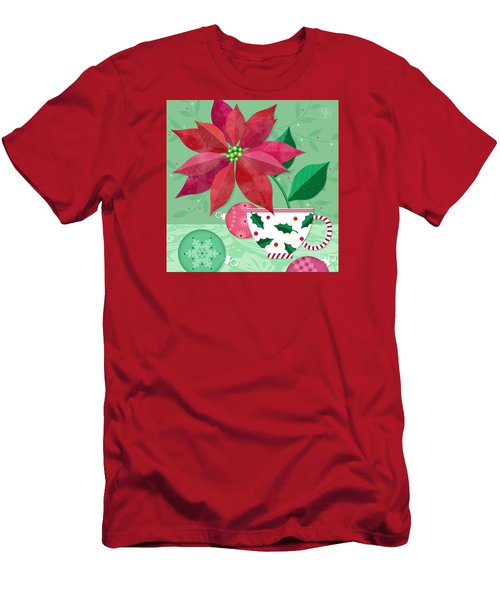 The Christmas Poinsettia Men's T-Shirt (Athletic Fit)