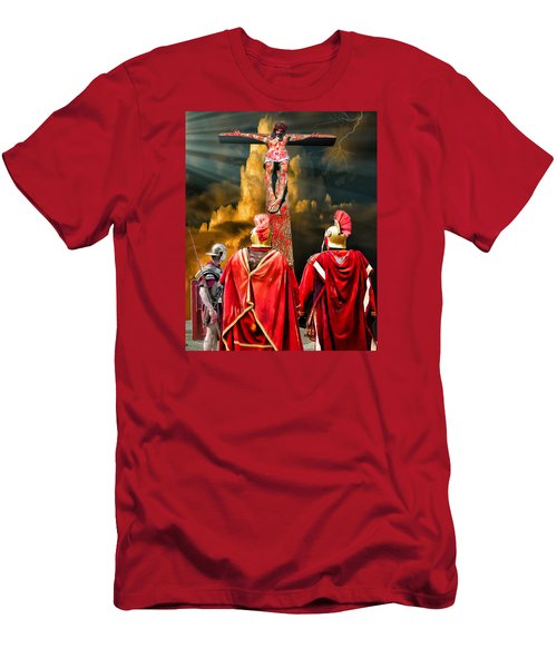 The Crucifixion Men's T-Shirt (Slim Fit) by Mark Allen