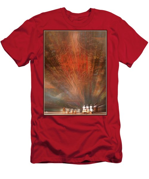 Men's T-Shirt (Athletic Fit) featuring the photograph The Drumbeat Rising by Wayne King