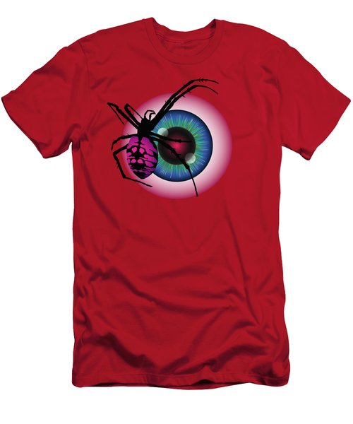 Men's T-Shirt (Slim Fit) featuring the digital art The Eye Of Fear by MM Anderson