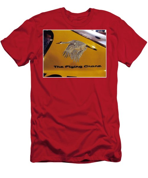 Men's T-Shirt (Athletic Fit) featuring the painting The Flying Crane by Richard Le Page