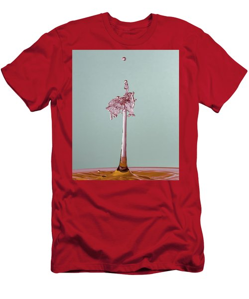 Men's T-Shirt (Athletic Fit) featuring the photograph The Lady On The Water Drop by Francisco Gomez