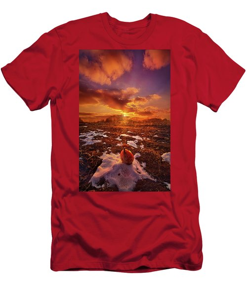Men's T-Shirt (Slim Fit) featuring the photograph The Last Pumpkin by Phil Koch