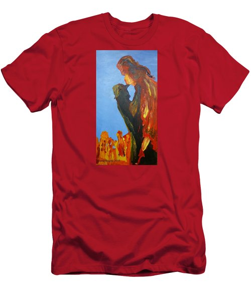 The Melting Men's T-Shirt (Slim Fit) by Geeta Biswas